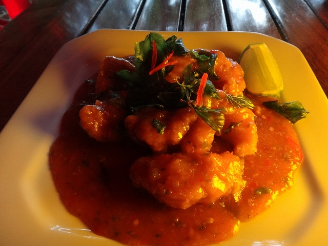 カンクンthaiレストラン魚料理