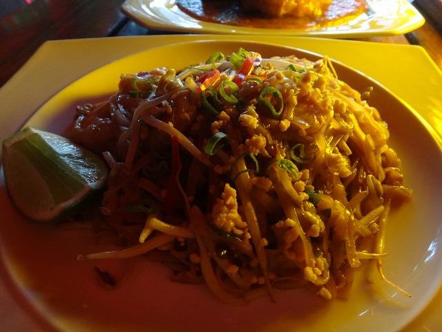 カンクンthaiレストランのパットタイ