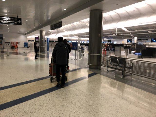 アメリカ・ヒューストン空港_保安検査場入り口