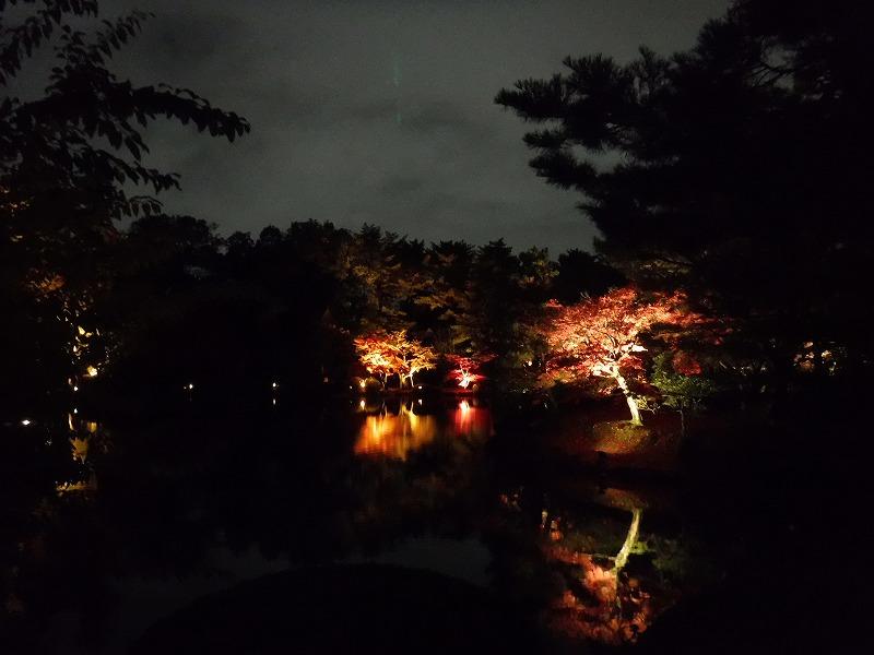 兼六園ライトアップ11月紅葉スポット03