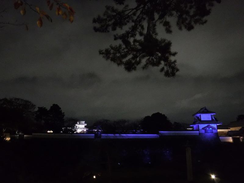 金沢城のライトアップ