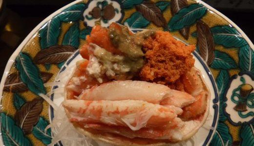 金沢寿司回らない名店|金澤信寿しで旬の香箱かに、加賀野菜、一品料理を食べてみた
