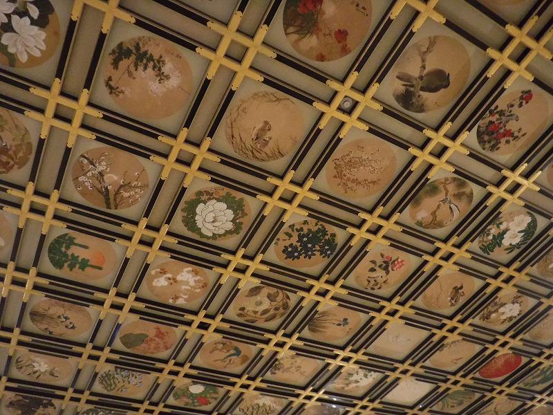 永平寺観光 傘松閣(さんしょうかく)の天井02