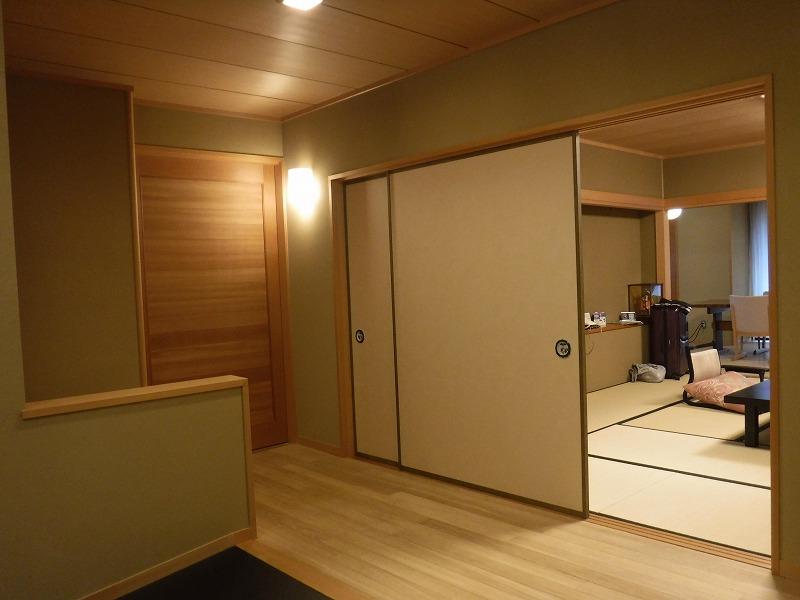 たちばな四季亭客室露天風呂付きプラン3階客室入り口