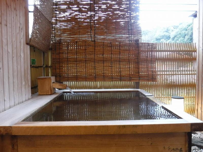 【山代温泉】たちばな四季亭客室露天風呂プランの露天風呂からの眺望
