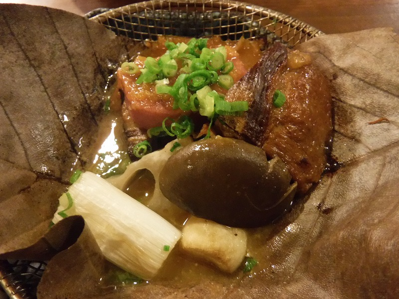 能登地豚朴葉味噌焼き