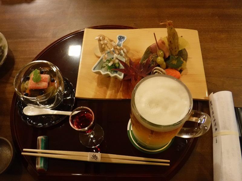 石川県たちばな四季亭の食事最初のセット