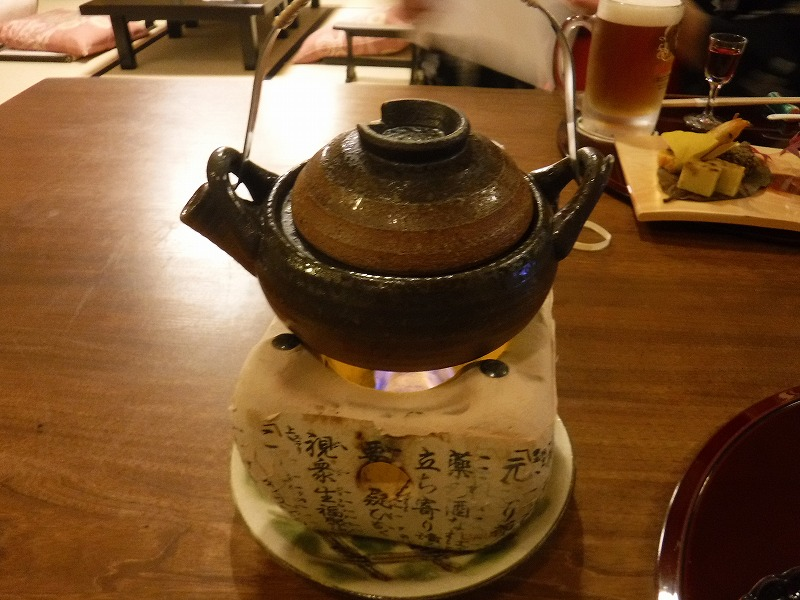 石川県たちばな四季亭の食事土瓶蒸し