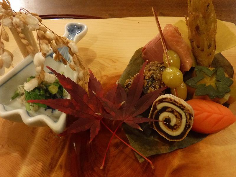 石川県たちばな四季亭夕食最初のお皿