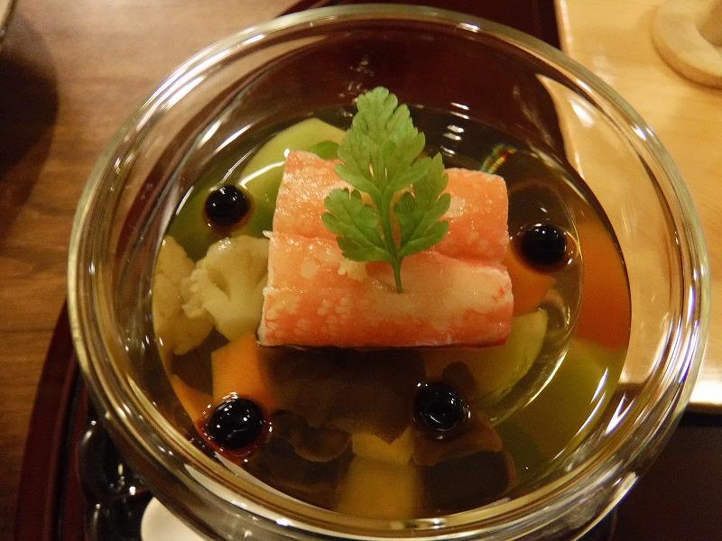 石川県たちばな四季亭夕食ズワイ蟹カクテル仕立て