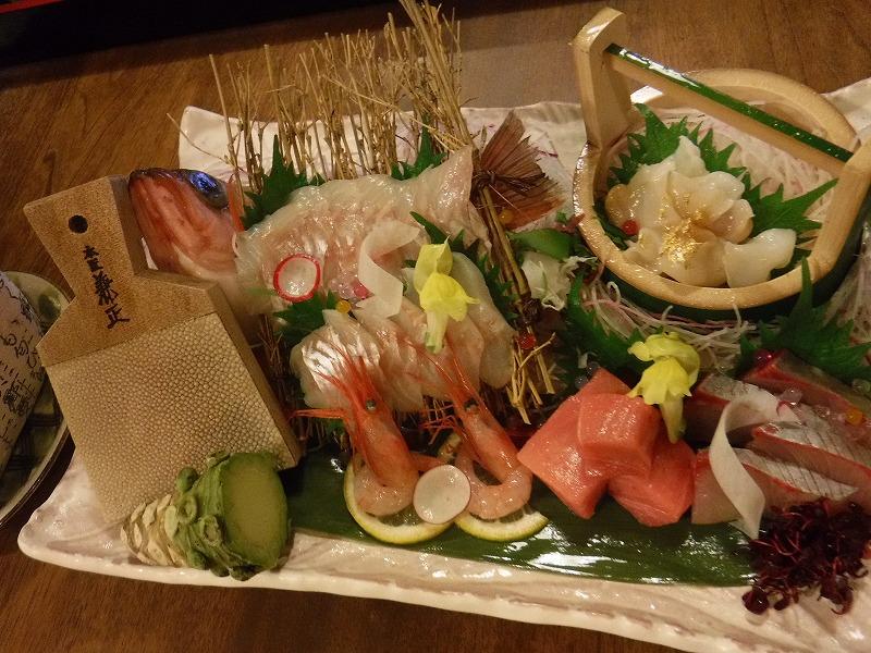 石川県たちばな四季亭夕食お造り