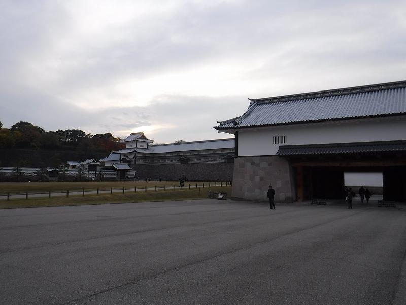 金沢城跡の河北門と五十間長屋