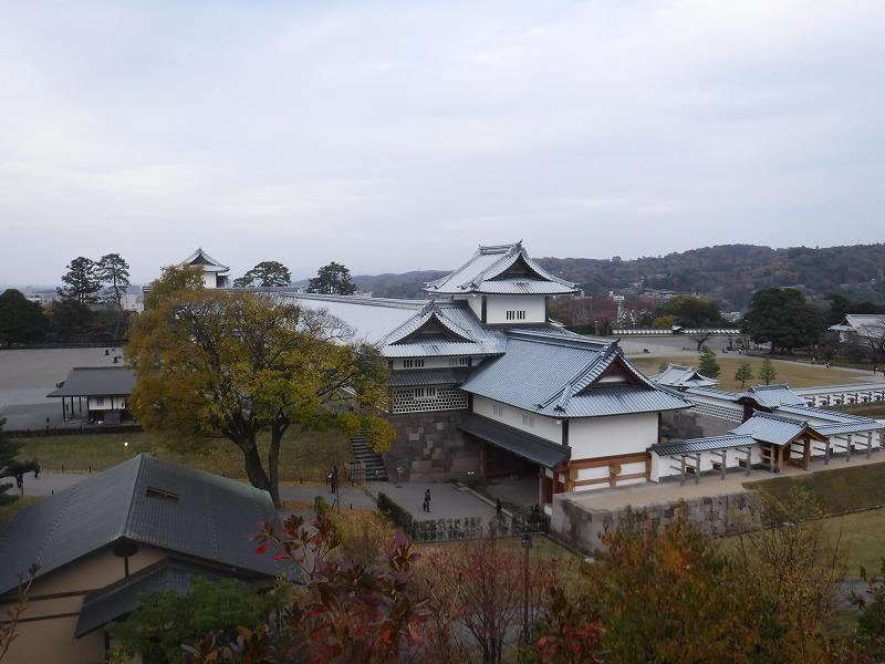金沢城跡を上から眺める