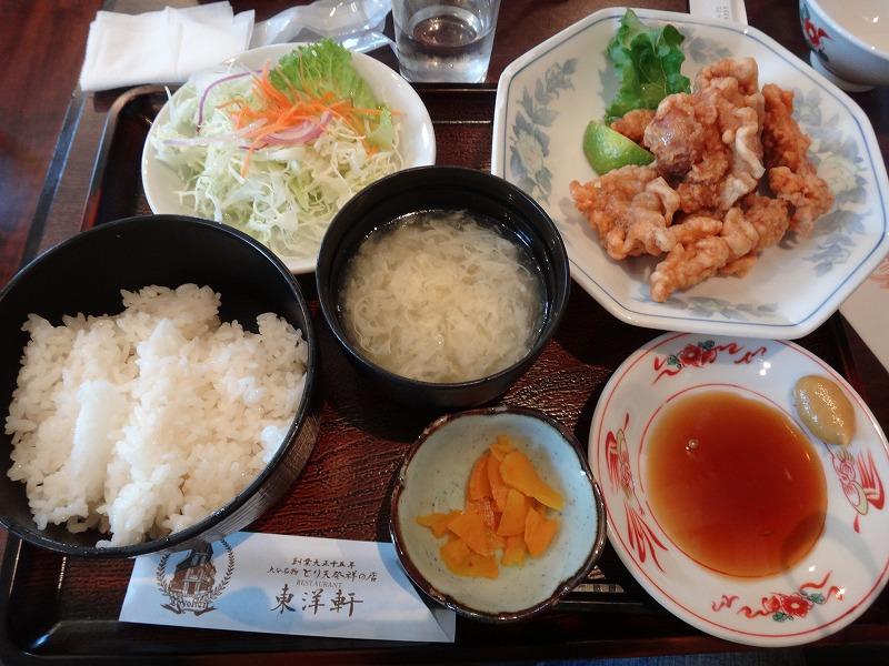 大分県別府レストラン東洋軒「とり天ランチ」