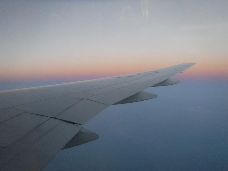 チェンマイ行き飛行機からの眺め