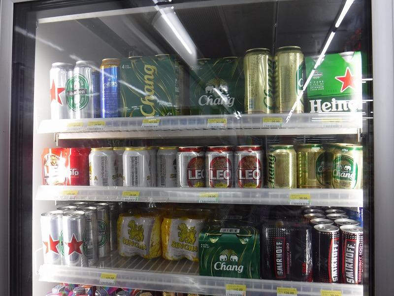タイ・チェンマイのセブンイレブン ビールの単価