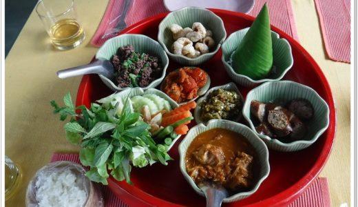 チェンマイの郷土料理|北タイ料理店バーン・ファン・ペンのカントークを食べてみた