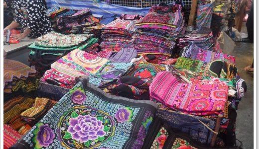 チェンマイ・モン族雑貨はモン族市場で!刺繍バッグや小物が激安【地図つき】