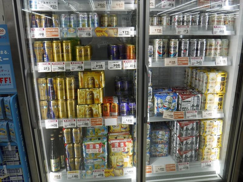 石垣島のお土産が安い24時間スーパー、マックスバリュやいま店_店内の写真_オリオンビール1