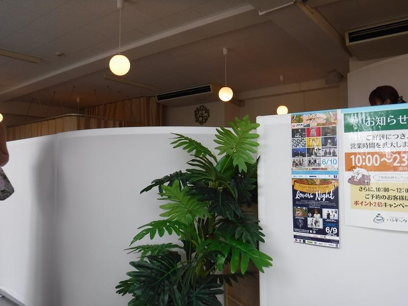 ANAインターコンチネンタルホテル石垣リゾートの真ん前にあるマッサージ店「ハンモック」店内の様子