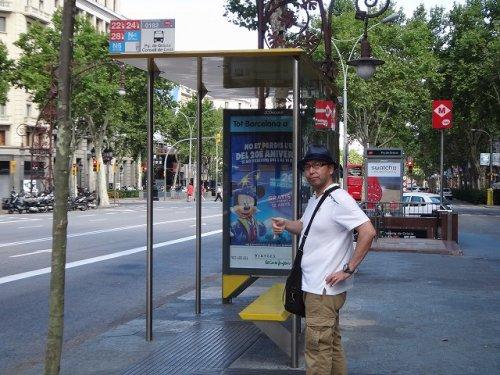 バルセロナ地下鉄5号線メトロディアゴナルDiagonal駅入り口metro