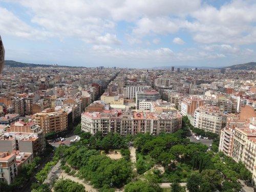 サグラダファミリア鐘楼から見たバルセロナの街並み4
