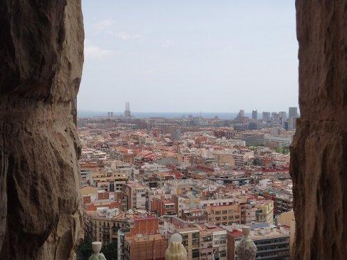 サグラダファミリア鐘楼から見たバルセロナの街並み2