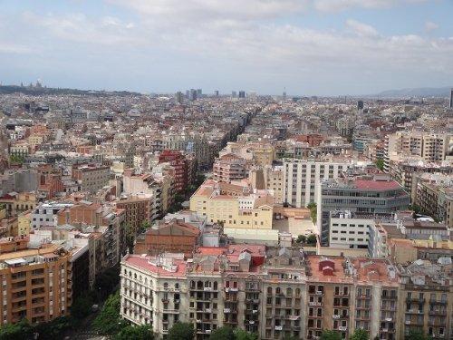 サグラダファミリア鐘楼から見たバルセロナの街並み3