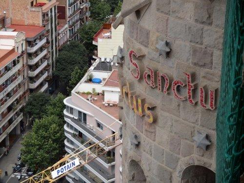 サグラダファミリア鐘楼から見た塔屋写真