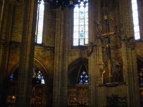 バルセロナカテドラル_キリスト像