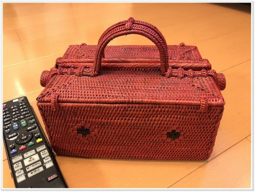 バリ島お土産でアタ雑貨を買うなら絶対にバリハンディ!実際に購入した赤い小物入れBOX