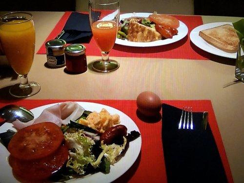 コンデス デ バルセロナ朝食_夫婦の朝食