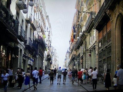 バルセロナの旧市街地の景色