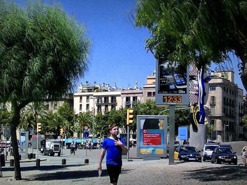 バルセロナ港の時計