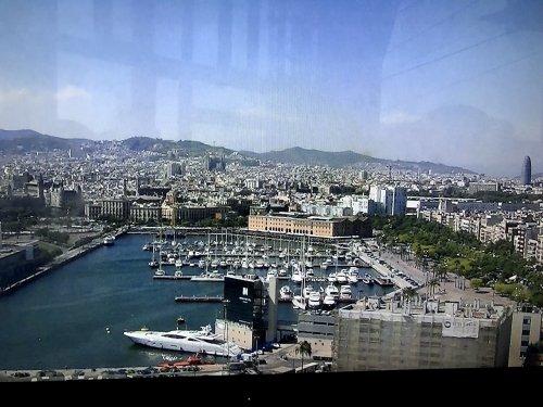ロープウェーからバルセロナ港