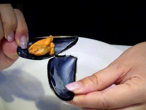 カン マジョでオーダー_ムール貝の白ワイン蒸し 貝の実