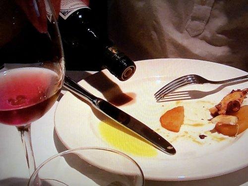 カン マジョでオーダー_タコのガルシア風をバルサミコ酢とオリーブオイルで