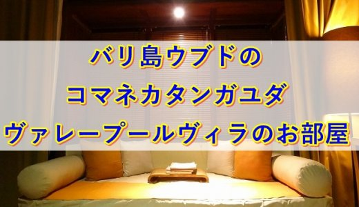バリ島ウブドのコマネカタンガユダ、ヴァレープールヴィラのお部屋宿泊記!