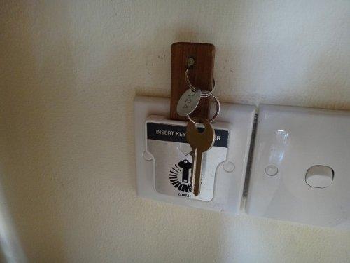 バリ島ウブドのコマネカタンガユダ、ヴァレープールヴィラ室内スイッチ