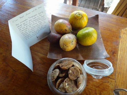 バリ島ウブドのコマネカタンガユダ、ヴァレープールヴィラ室内のテーブル
