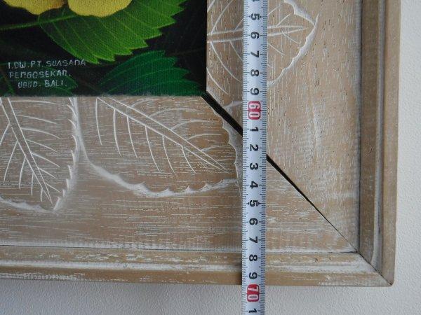 バリ絵画ウブドで最初に買った伝統スタイルのバリ絵画ブンゴセカンスタイルの絵_横サイズ60cm