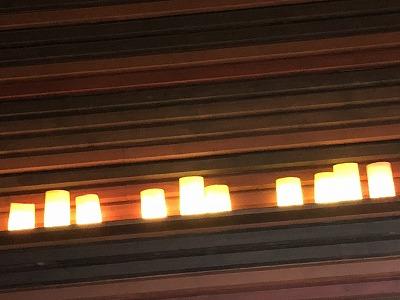 ニセコ昆布温泉鶴雅別荘杢の抄_ラウンジアペソキャンドル照明