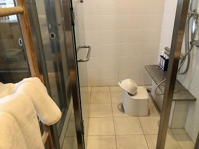 ニセコ昆布温泉鶴雅別荘杢の抄3F岩高蘭 客室洗面スペース_シャワーブース