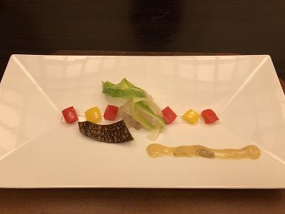 ニセコ昆布温泉鶴雅別荘杢の抄の夕食メニュー_先付