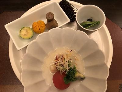 ニセコ昆布温泉鶴雅別荘杢の抄の夕食メニュー_前菜