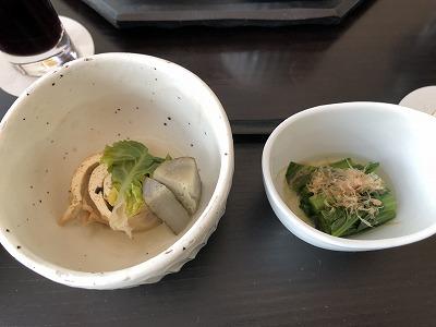 ニセコ昆布温泉鶴雅別荘杢の抄朝食_野菜小鉢