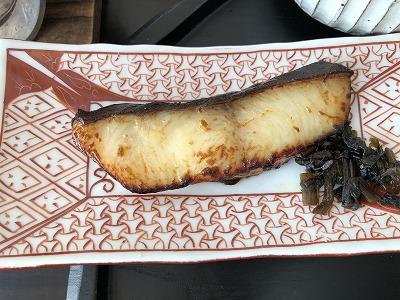 ニセコ昆布温泉鶴雅別荘杢の抄朝食_焼き魚