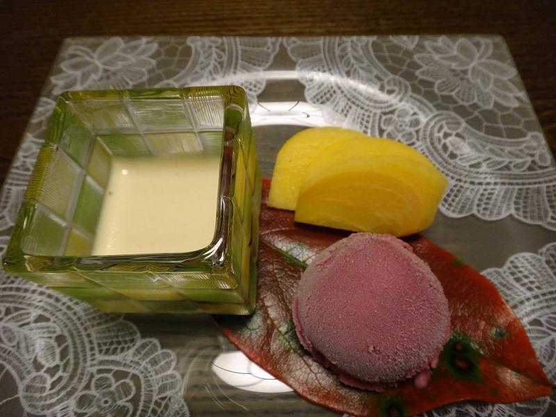 由布院わらび野食事夕食_デザート
