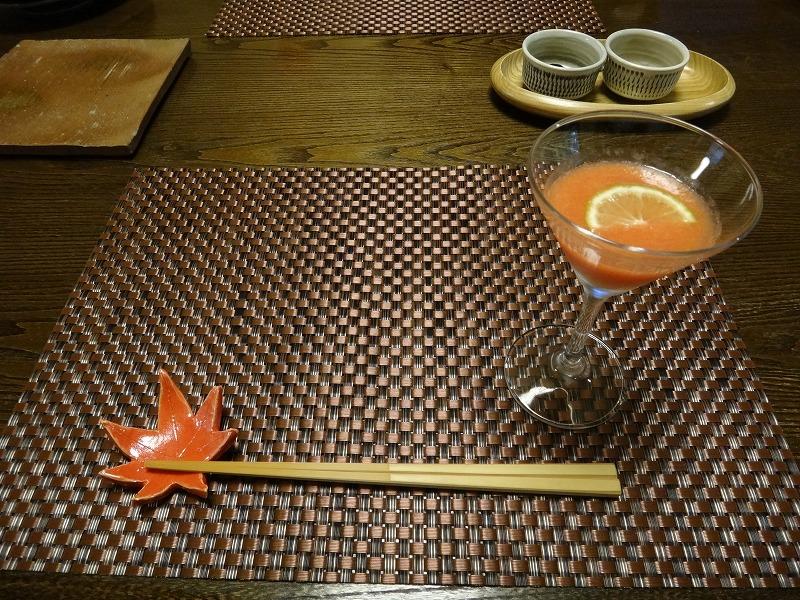 由布院わらび野食事朝食_トマトジュース
