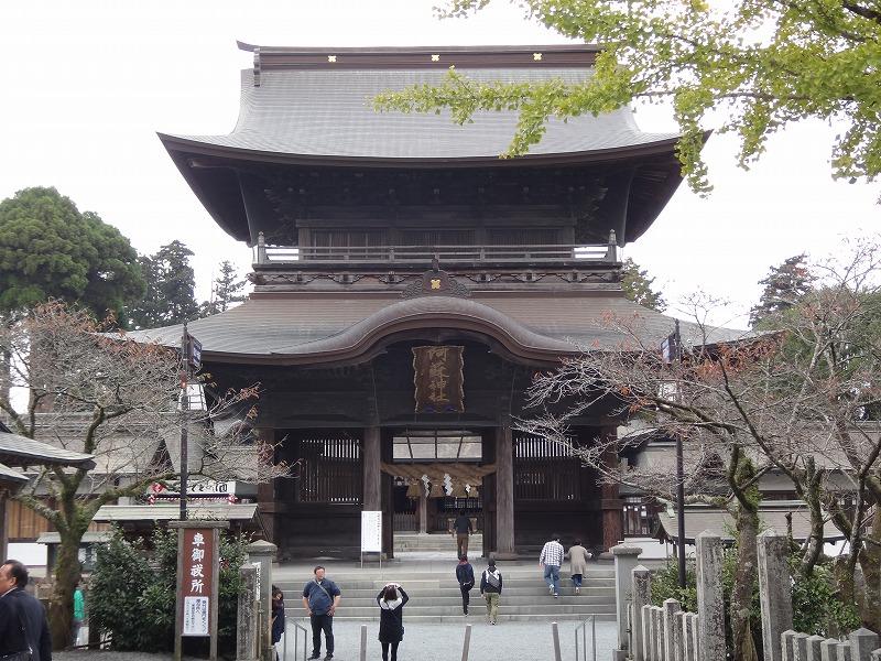 肥後一の宮 阿蘇神社_入り口の大楼門